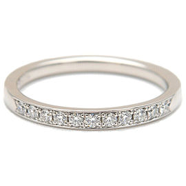 Authentic 4℃ Half Eternity Diamond Ring PT950 Platinum US5.5 EU50 Used F/S