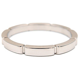 Auth Cartier maillon panthère Ring K18 White Gold #62 US10.5 EU63 Used F/S