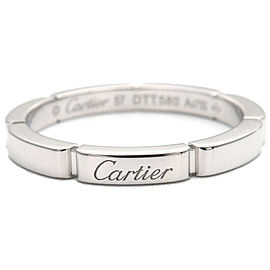 Authentic Cartier maillon panthère Ring White Gold K18 #57 US8 EU57 Used F/S
