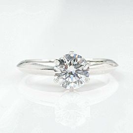 Tffany & Co Round Diamond 0.96 cts E VS1 Solitaire Engagement Ring Papers Box