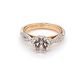 Verragio Couture Semi Mount 0440-TT 18kt White and Rose Gold