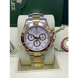 Rolex 116523 Daytona White Dial 18K Yellow Gold Steel Box Booklets