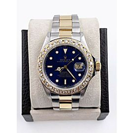 Rolex Submariner 16613 Blue Dial Diamond Bezel 18K Yellow Gold Stainless