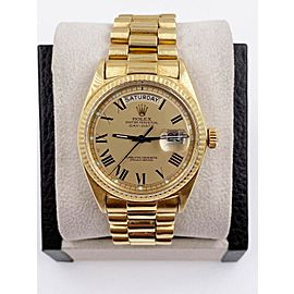 Rolex President 1803 18K Yellow Gold RARE FULL SET COLLECTIBLE Box Paper