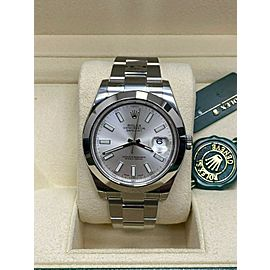 BRAND NEW Rolex Datejust II 116300 Silver Dial Stainless Steel Box Papers