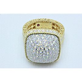 Roberto Coin Barocco Diamond Dome Ring 3.30 tcw 18k Yellow Gold $16,000 Retail