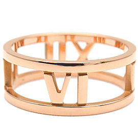 Authentic Tiffany&Co. Atlas Open Ring K18RG Rose Gold US5.5 EU51 Used F/S