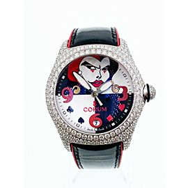 Corum 82.243.69 Joker Bubble 18K White Gold Diamond Bezel 1 of 10 Made RARE