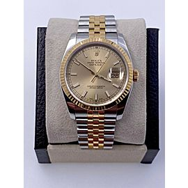 Rolex Datejust 116233 Champagne 18K Yellow Gold Stainless Steel Box Paper 2007