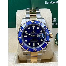 Rolex Submariner 116613 Blue Ceramic 18K Yellow Gold Steel Box Papers 2015