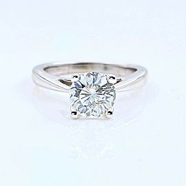 Celebration Diamond Engagement Ring Round 1.09 ct 18k White Gold $10,000 Retail