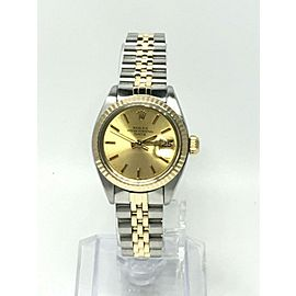 Rolex Ladies Date 6917 Champagne Dial 14K Yellow Gold Stainless Steel