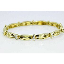 Tiffany & Co Diamond 18k Yellow Gold 1992 Signature II 1.65 cts $7,500 Value
