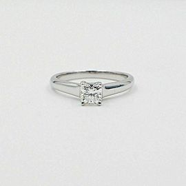 Tiffany & Co Lucida Platinum Diamond Engagement Ring 0.46 tc E VVS1 $7500 Retail