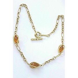 David Yurman Citrine 18k Yellow Gold Toggle Necklace