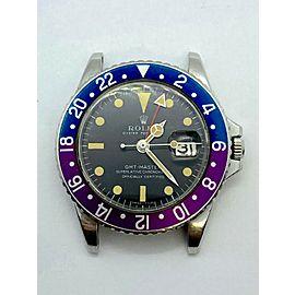 VINTAGE GMT Master 1675 Pepsi Fuchsia Stainless Steel LONG E RARE 1968
