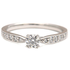 Authentic Tiffany&Co. Harmony Diamond Ring 0.18ct Platinum US6 EU52 Used F/S