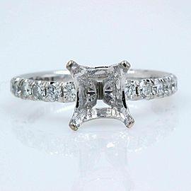 TACORI Petite Crescent Diamond Engagement Ring Semi Mount Band 18k White Gold
