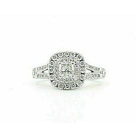Celebration Cushion Diamond Engagement Ring Double Halo 1.20 tcw 18k White Gold