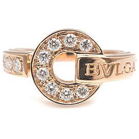 Auth BVLGARI BVLGARI BVLGARI Ring Diamond K18 Rose Gold US6 HK13 EU51.5 Used F/S