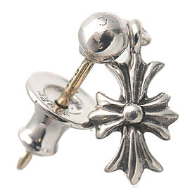 Authentic Chrome Hearts Tiny E CH Plus Single Drop Earring Silver 925 Used F/S