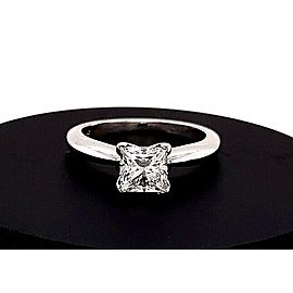 Princess Cut Diamond 1.10 Carat I I1 GIA Solitaire Engagement Ring