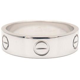 Authentic Cartier Love Ring Platinum PT950 #58 US8.5 HK19 EU58.5 Used F/S