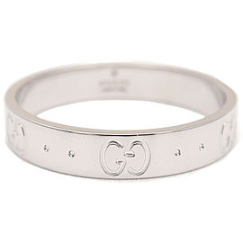 Authentic GUCCI ICON Ring K18WG 750 White Gold #19 US9 HK19.5-20 EU59.5 Used F/S