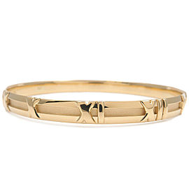 Authentic Tiffany&Co. Atlas Bangle K18YG 750YG Yellow Gold Used F/S