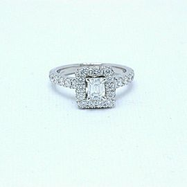 Neil Lane Diamond Engagement Ring Emerald Cut 1.375 tcw I SI1 14k White Gold