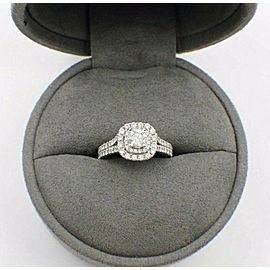VERA WANG Double Halo Diamond Engagement Ring Rounds 1 1/2 ct 14k White Gold