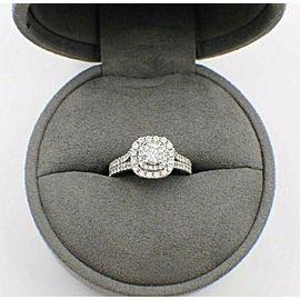 VERA WANG Double Halo Diamond Engagement Ring Rounds 1 1/2 ct 14k White Gold