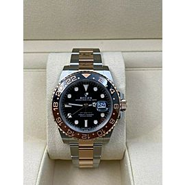 BRAND NEW Rolex GMT Master II 126711CHNR Root Beer 18K Rose Gold Steel Box Paper
