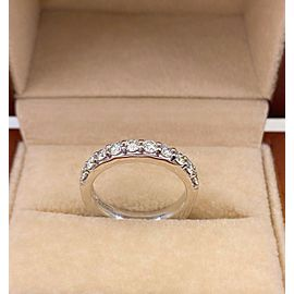 A. JAFFE Round 10 Diamond Signature Wedding Band Ring 18kt White Gold