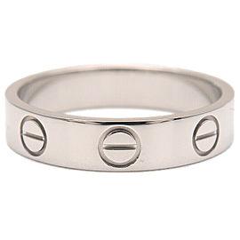 Authentic Cartier Mini Love Ring Platinum PT950 #47 US4 EU47-47.5 Used F/S