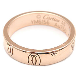 Authentic Cartier Happy Birth Day Ring Rose Gold #48 US4.5 HK10 EU48.5 Used F/S
