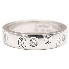 Auth Cartier Happy Birth Day 5P Diamond Ring WG #47 US4-4.5 HK9 EU47.5 Used F/S