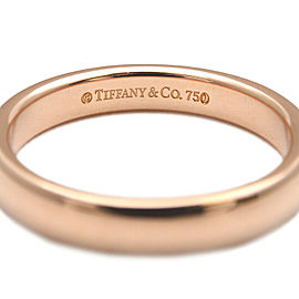 Authentic Tiffany&Co. Classic Band Ring Rose Gold US4 HK8 EU46.5-47 Used F/S