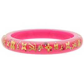 Authentic Louis Vuitton Bracelet Inclusion TPM Bangle Pink M65578 Used F/S