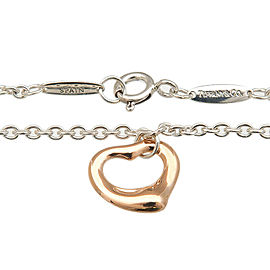 Authentic Tiffany&Co. elsa peretti Open Heart Bracelet SV925×750PG Used F/S