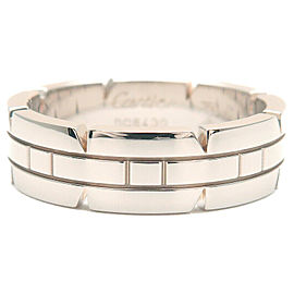 Authentic Cartier Tank Francaise Ring White Gold K18 #57 US8-8.5 EU58 Used F/S