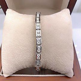 Round Brilliant Diamonds 5.00 ctw Link Bracelet in 14kt White Gold
