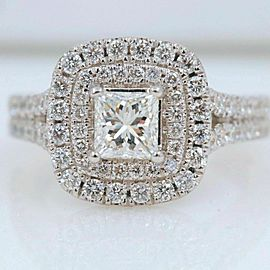 Vera Wang Love Collection 1 1/2 tcw Princess Diamond Split Shank Engagement Ring