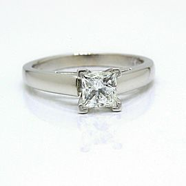 Leo Diamond Engagement Ring Princess 0.75 ct I SI1 14k White Gold $5,300 Retail