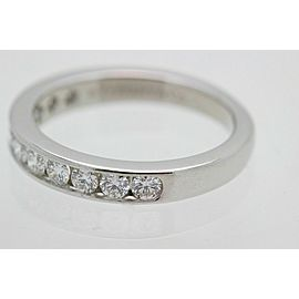 Tiffany & Co Diamond Wedding Band 2.5mm Channel Set in Platinum $2,875 Retail