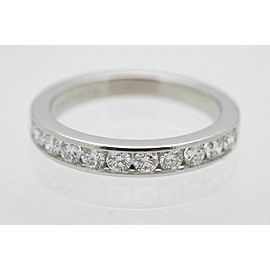 Tiffany & Co Platinum and Diamond Wedding Band Ring 2.5mm