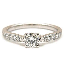Auth Tiffany&Co. Harmony Diamond Ring 0.25ct Platinum US4.5 HK9.5 EU48 Used F/S