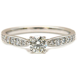 Auth Tiffany&Co. Harmony Diamond Ring 0.22ct Platinum US5 HK10.5 EU49 Used F/S
