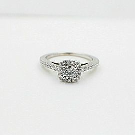 Vera Wang Love Diamond Engagement Ring 3/4 tcw in 14k White Gold