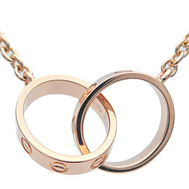 Cartier 18k Rose Gold Interlocking Love Necklace